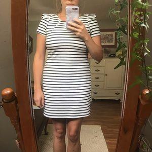 Soprano capped sleeve midi dress